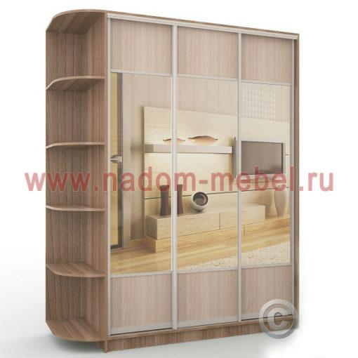 Экспрессо-13 с зеркалами шкаф купе