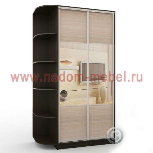 Экспрессо-3 с зеркалами шкаф купе