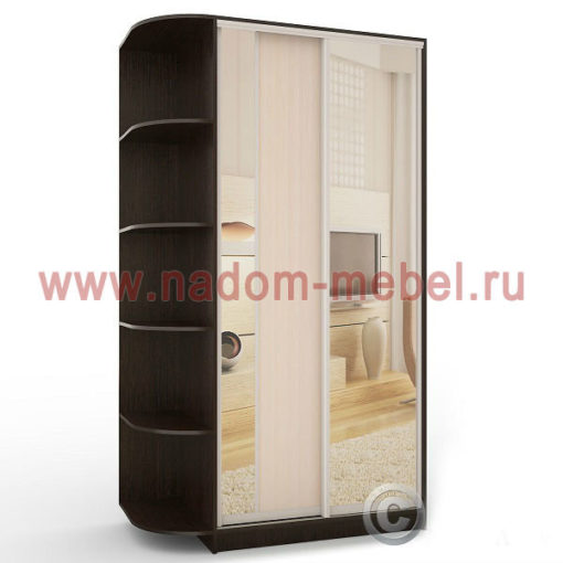 Экспрессо-6 с зеркалами шкаф купе