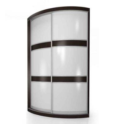 Мебелайн-1 шкаф купе радиусный