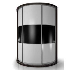 Мебелайн-10 шкаф купе радиусный