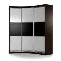 Мебелайн-16 шкаф купе радиусный