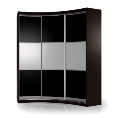 Мебелайн-17 шкаф купе радиусный