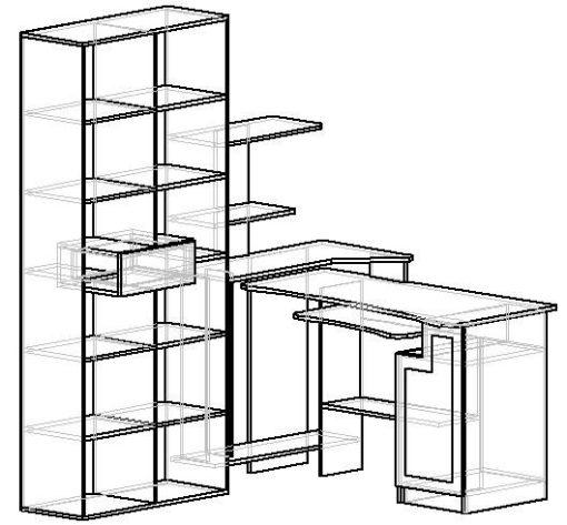 Мебелайн-2 компьютерный стол