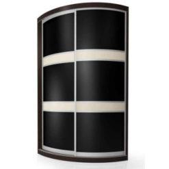 Мебелайн-2 шкаф купе радиусный