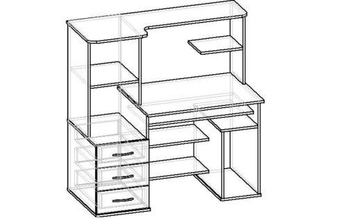 Мебелайн-25 компьютерный стол