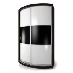 Мебелайн-3 шкаф купе радиусный