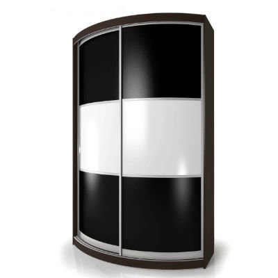 Мебелайн-4 шкаф купе радиусный