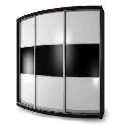 Мебелайн-5 шкаф купе радиусный