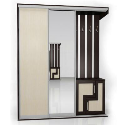 Мебелайн-5 шкаф купе в прихожую
