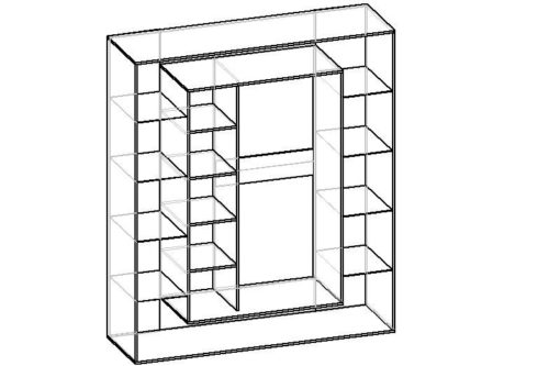 Мебелайн-6 шкаф купе