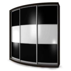 Мебелайн-6 шкаф купе радиусный