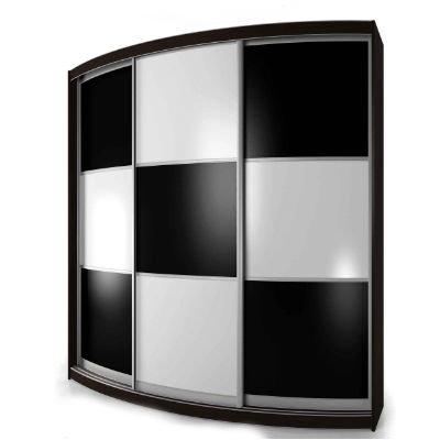Мебелайн-7 шкаф купе радиусный
