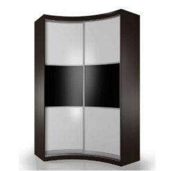 Мебелайн-8 шкаф купе радиусный