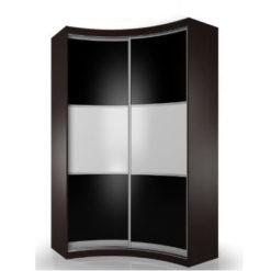 Мебелайн-9 шкаф купе радиусный