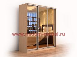 Версаль люкс-3 шкаф купе трехдверный