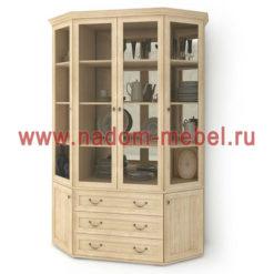 Витраж-15С угловой шкаф для посуды