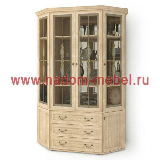Витраж-15В угловой шкаф для посуды