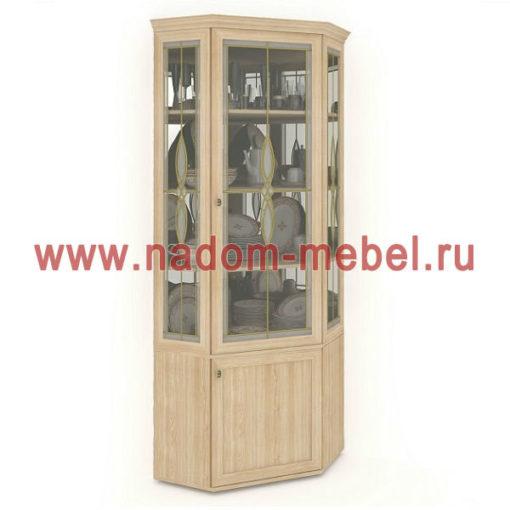 Витраж-1В угловой шкаф для посуды